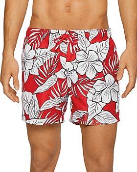 BOSS - Piranha Palm Print Swim Shorts