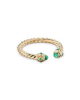 David Yurman - 18K Yellow Gold Renaissance Emerald Ring