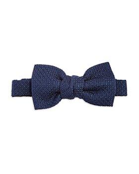 Lanvin - Solid Knit Silk Pre Tied Bow Tie