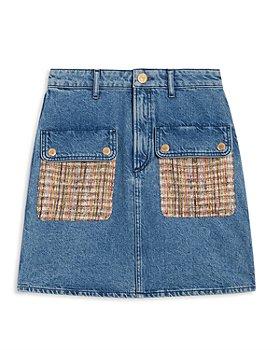 Sandro - Fiorina Tweed Pockets Denim Mini Skirt