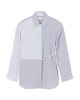Sandro - MaddlyBelt Detail Striped Shirt