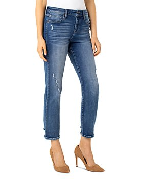 Liverpool Los Angeles - Cropped Straight Leg Jeans in Kennedy