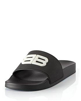 Balenciaga - Women's BB Fluorescent Pool Slide Sandals