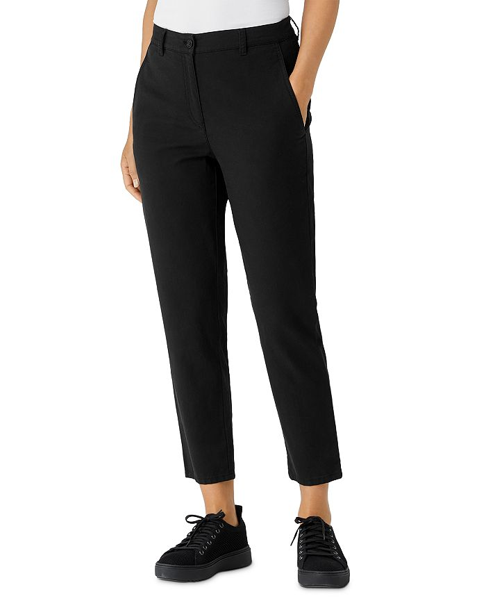 Eileen Fisher Petites - High Waisted Tapered Ankle Pants