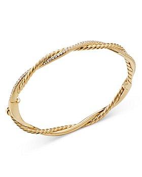 David Yurman - 18K Yellow Gold Petite Infinity Bracelet with Diamonds