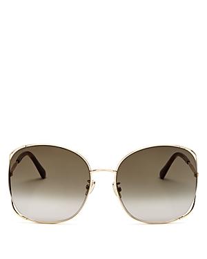 Jimmy Choo Women's Square Sunglasses, 61mm In Gold