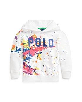 Ralph Lauren - Girls' Paint Splatter Logo Hoodie - Big Kid