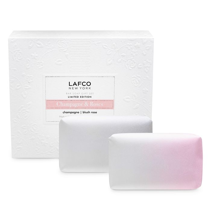 Lafco CHAMPAGNE & ROSES BAR SOAP DUO