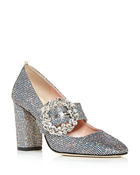 SJP by Sarah Jessica Parker - Women's Celine Embellished Block Heel Pumps