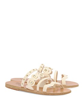 Ancient Greek Sandals - Women's Meltemi Stud & Mirror Strappy Slide Sandals