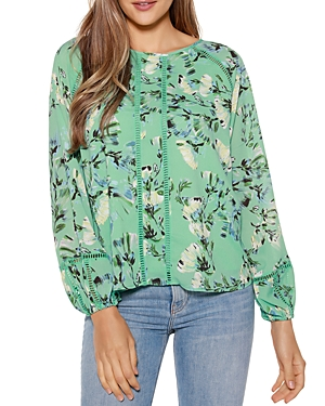 Floral Print Blouson Top