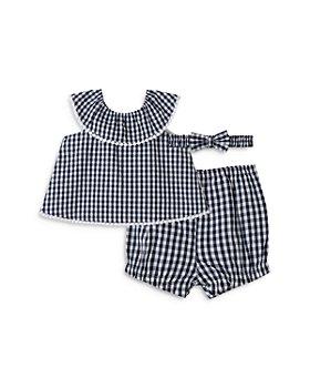 Little Me - Girls' Gingham 3-Piece Sunsuit Set - Baby