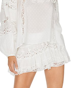LoveShackFancy - Briella Eyelet Ruffled Mini Skirt