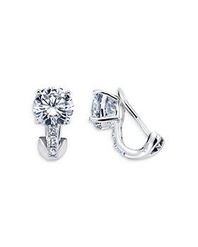 Crislu - Single Stone Stud Earrings