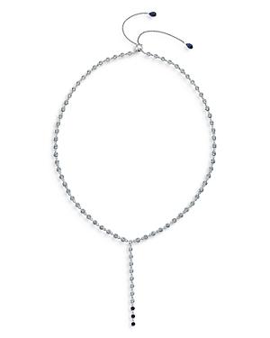Bezel Set Adjustable Y Necklace