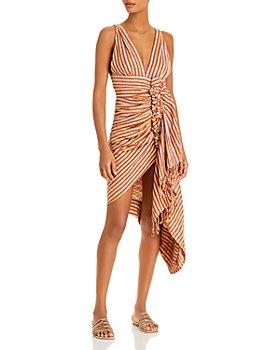 JUST BEE QUEEN - Tulum Asymmetric Dress Cover-Up