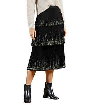 Ted Baker - Papyrus Tiered Midi Skirt