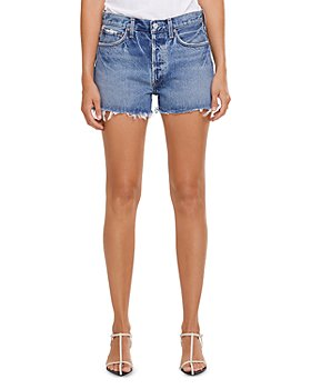 AGOLDE - Parker Vintage Cutoff Denim Shorts in Swapmeet Dark