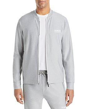 BOSS - Sariq Logo Zip Up Sweater