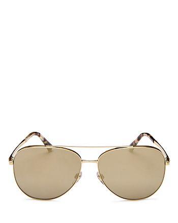 Valentino - Women's Brow Bar Aviator Sunglasses, 60mm