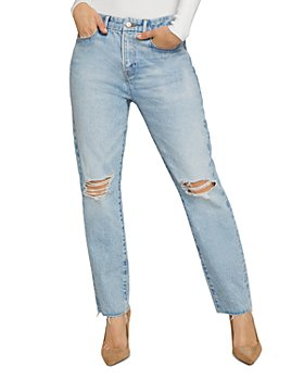Good American - Good Girlfriend Distressed Jeans in Blue637