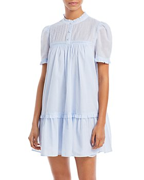 AQUA - Ruffled Shift Dress - 100% Exclusive