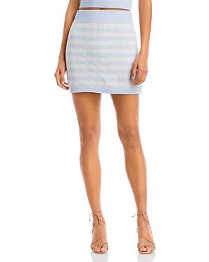 Aqua Gingham Stripe Knit Mini Skirt - 100% Exclusive