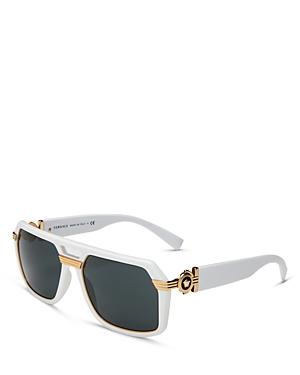 Versace Men's Brow Bar Square Sunglasses, 58mm In White