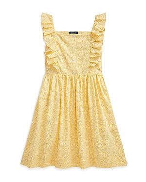 Ralph Lauren POLO RALPH LAUREN GIRLS' RUFFLE DETAILED DRESS - BIG KID