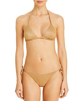 Vitamin A - Gia Triangle Bikini Top & Elle Side Tie Bikini Bottom