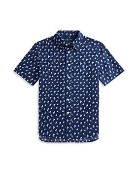 Ralph Lauren - Boys' Cotton Angelfish Print Shirt - Little Kid, Big Kid