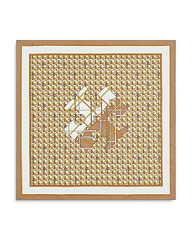 Tory Burch - Woven Cane Pattern Silk Twill Neckerchief