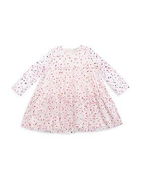 Stella McCartney - Girls' Dot Print Long Sleeve Tulle Dress - Big Kid