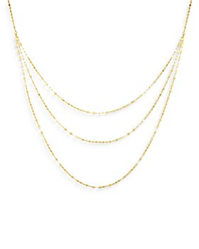 """Bloomingdale's - 14K Yellow Gold Triple Chain Statement Necklace, 18"""" - 100% Exclusive"""