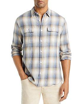 Vince - Shadow Plaid Slim Fit Shirt
