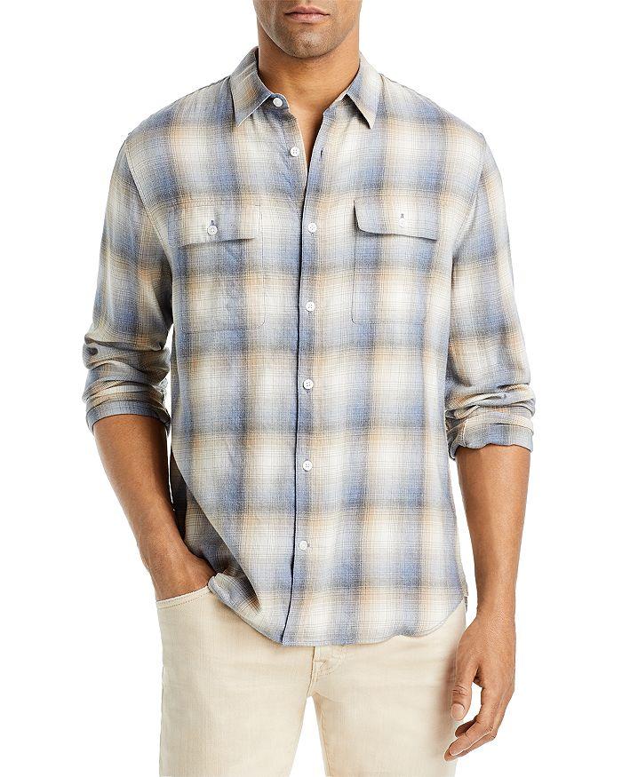 Vince T-shirts SHADOW PLAID SLIM FIT SHIRT