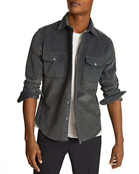 REISS - Maldini Corduroy Regular Fit Button Down Shirt