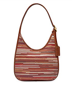 COACH - Ergo Small Woven Leather Shoulder Bag