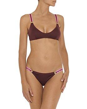 Stella McCartney - Padded Logo Tape Bikini Top & Low Rise Logo Tape Bikini Bottom