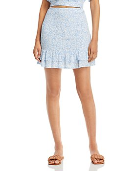 Lost and Wander - Seaside Breeze Ruffled Mini Skirt