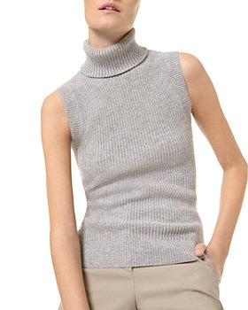 MICHAEL Michael Kors - Cashmere Sleeveless Turtleneck Sweater