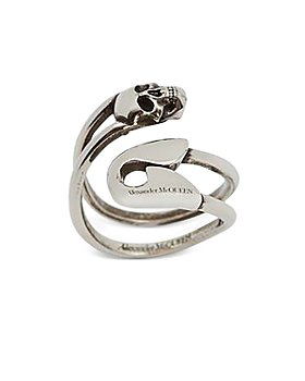 Alexander McQUEEN - Skull & Safety Pin Ring