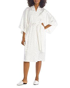 Natori - Animal Print Satin Wrap Robe