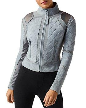 Blanc Noir - Suede & Mesh Moto Jacket