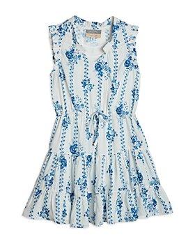 Pippa & Julie - Girls' Floral Print Tiered Dress - Big Kid