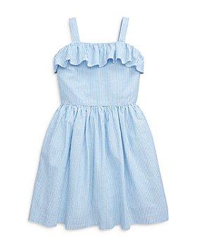 Ralph Lauren - Girls' Seersucker Ruffled Dress - Big Kid