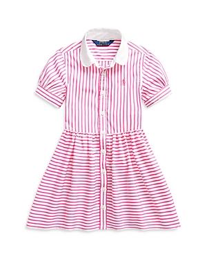 Ralph Lauren POLO RALPH LAUREN GIRLS' MIXED STRIPE SHIRT DRESS - LITTLE KID