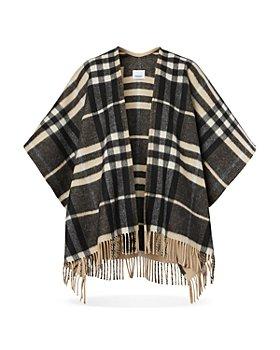 Burberry - Cashmere Wool Plaid Cape