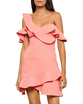 BCBGMAXAZRIA - Malik Asymmetric Ruffle Off-the-Shoulder Mini Dress - 100% Exclusive