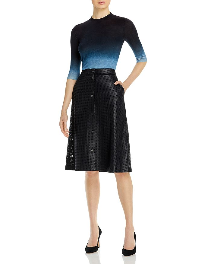 HUGO BOSS Leathers VEFY FAUX LEATHER A-LINE SKIRT